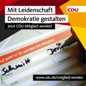 Link zur Seite CDU Mitgliedschaft